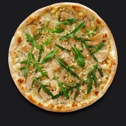 Пицца с сыром рокфорти и грушей