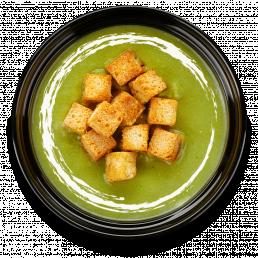 Суп-пюре из брокколи и зелёного горошка