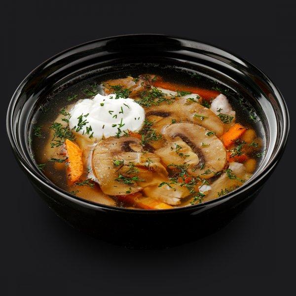 Суп грибной с мясом птицы