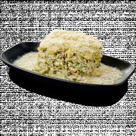 Лазанья со шпинатом и цыплёнком