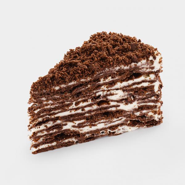 Неаполеон шоколадно-кокосовый с заварным кремом