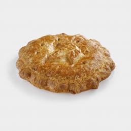 Картофельно-мясной на слоеном тесте