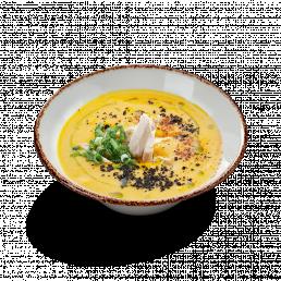 Крем-суп из овощей с курочкой