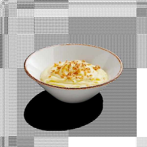 Картофельное пюре с луком фри