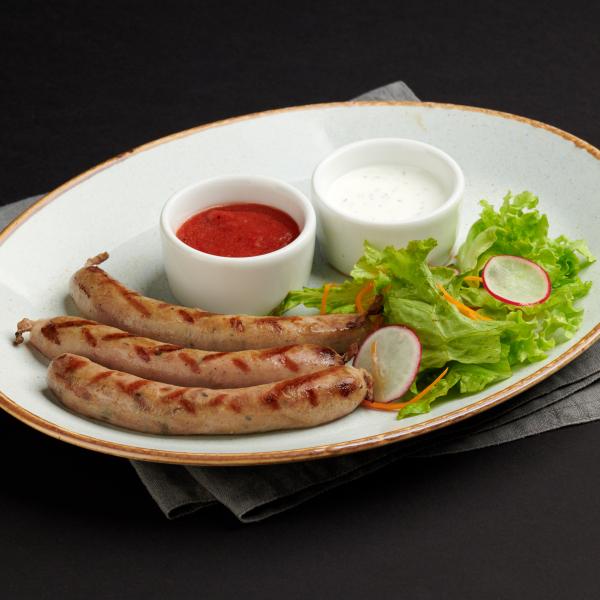 Колбаски из свинины с грибами