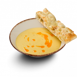 Сырный крем c хрустящей фокаччей
