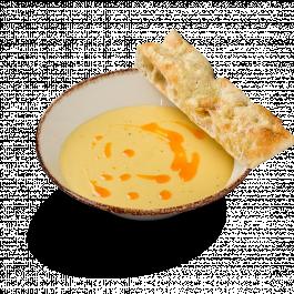 Сырный крем-суп c хрустящей фокаччей