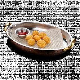 Сырные шарики с соусом BBQ