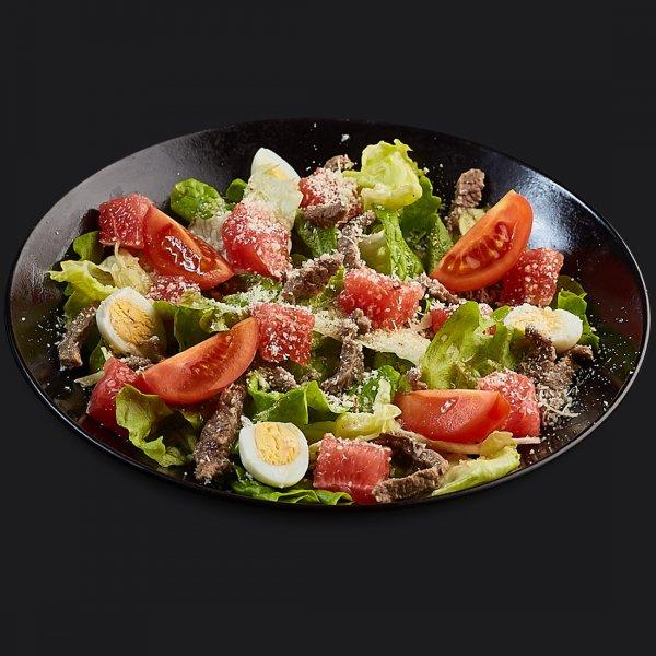 Салат с грейпфрутом и говядиной