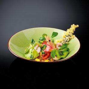 Салат с булгуром и крабовым  мясом