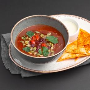 Мексиканский суп с фасолью и ноткой чили