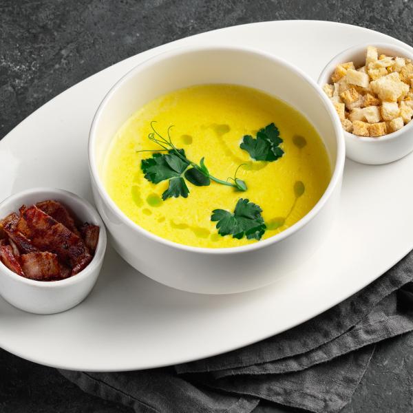Сырный крем - суп с беконом