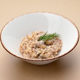 Сливочная гречка с грибами