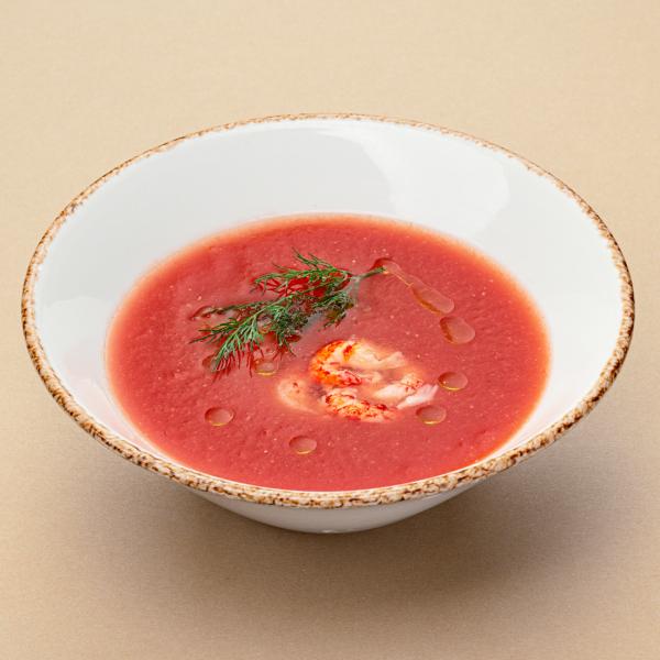 Испанский суп гаспачо с раковыми шейками