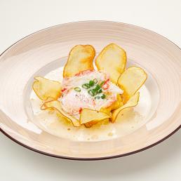 Картофельный крем-суп с мясом краба