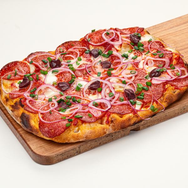 Римская пицца с пепперони