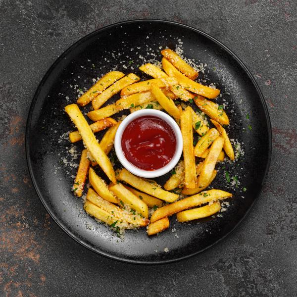 Картофель фри с сыром