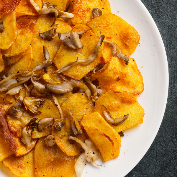 Картофель, жаренный с вёшенками