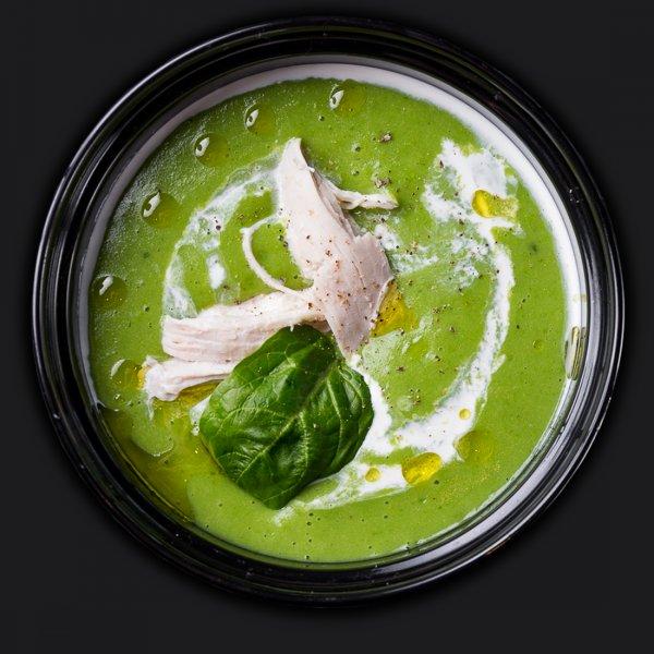 Крем-суп из шпината с курицей
