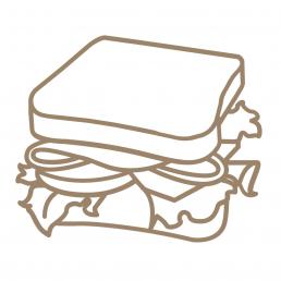 Закуска из печеного перца на постной чиабатте