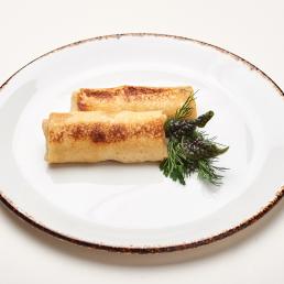 Блинчики с курицей, грибами и сливочным сыром