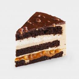 Шоколадно - карамельный с арахисом (2 кусочка)