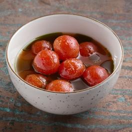 Севиче из томатов черри в цитрусовом маринаде