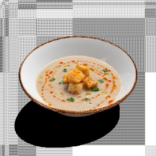 Грибной суп с крутонами