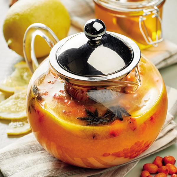 Облепиховый чай с лимоном и бадьяном