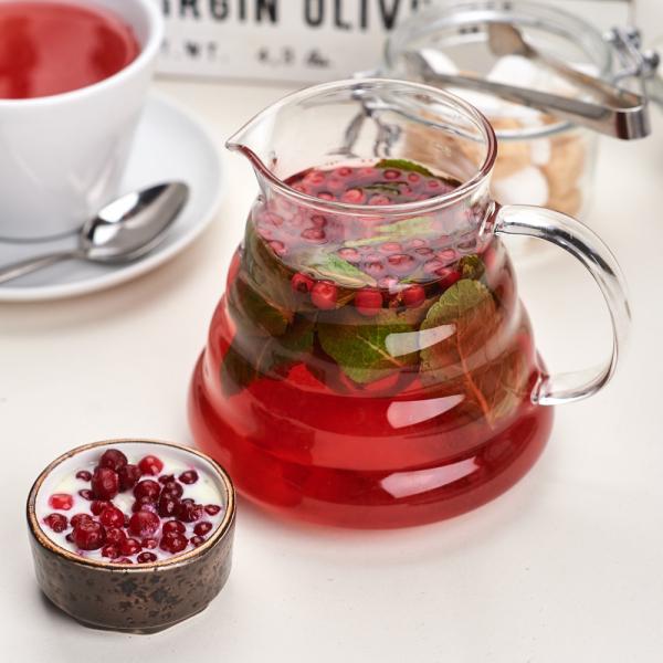 Травяной чай с брусникой и мятой