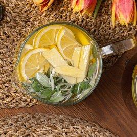 Имбирный чай с шалфеем и мёдом