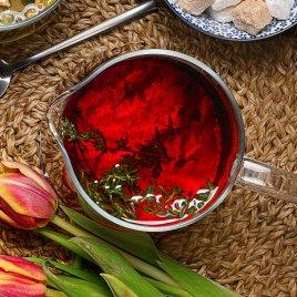 Имбирный чай с вишней