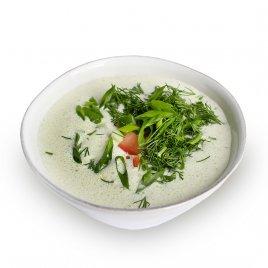 Суп «Тармацнох» с мацони и ароматными травами
