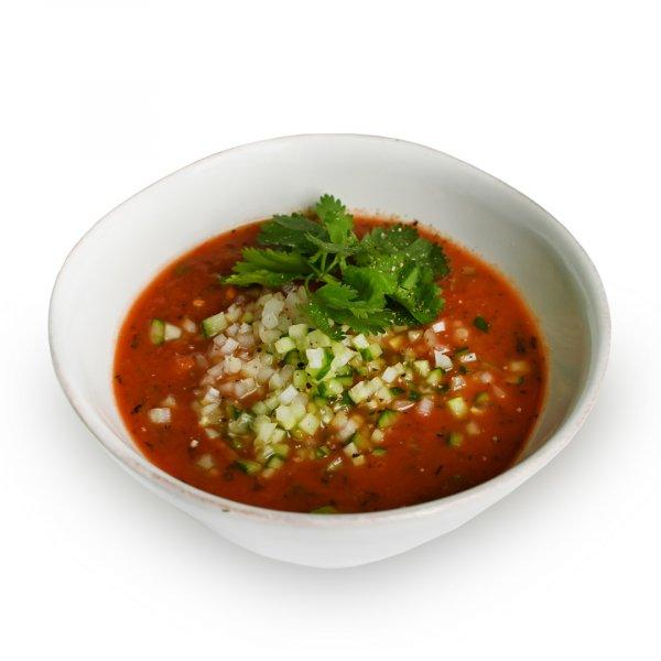 Томатный суп «Анора» с огурцом и сельдереем