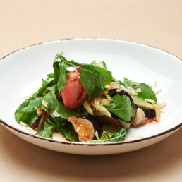 Хрустящие баклажаны с овощами и чили