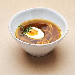 Суп из белых грибов с домашней лапшой