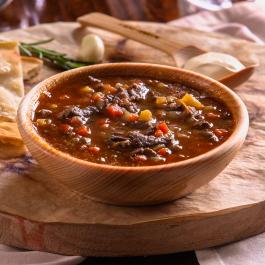Сибирский суп-гуляш из четырех видов мяса