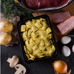 Равиоли Панчетта-патато с картофелем и беконом