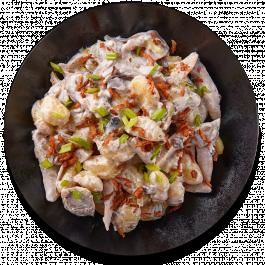 Ньокки с цыплёнком в сливочно-грибном соусе