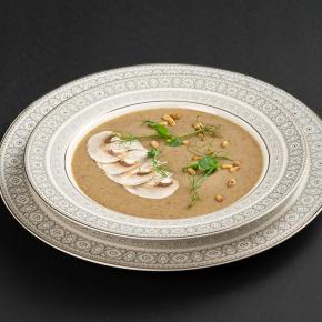 Суп-пюре из белых грибов и шампиньонов