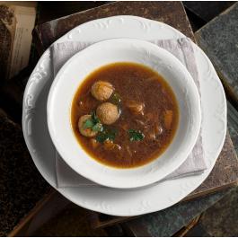 Грибной суп с фрикадельками из растительного мяса