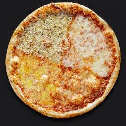 Пицца Четыре сыра с моцареллой Cыроварни FORMAGGI