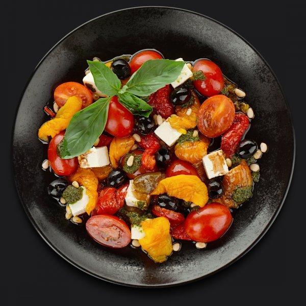 Салат с запечённым болгарским перцем
