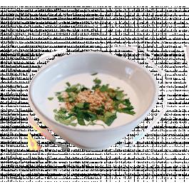 Суп с грецким орехом и кинзой