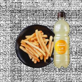 Картофель фри+лимонад+соус