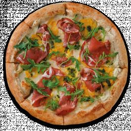 Пицца с хамоном с тыквенным кремом