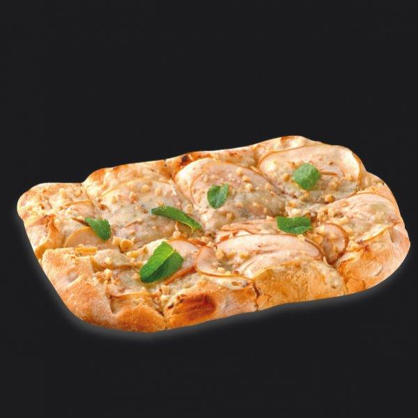 Римская пицца с сыром рокфорти и грушей