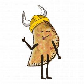 Чебурек с телятиной и сыром