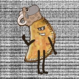 Чебурек с бараниной и кинзой