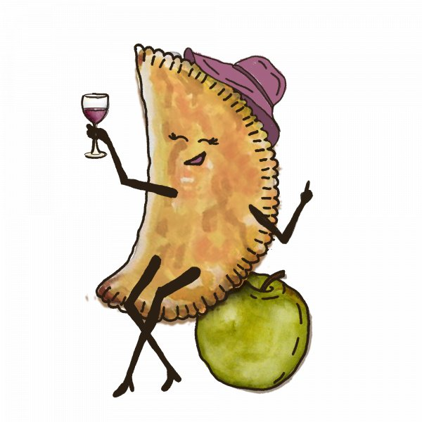 Чебурек с яблоком и орехом
